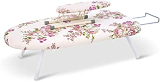 GJCC Collapsible Tabletop Ironing Board with Fixed Sleeve Folding Legs and Padded Scorch Resistant Washable Cover Easy to Transport and Store in Small Spaces,E