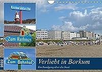 Verliebt in Borkum (Wandkalender 2022 DIN A4 quer): Die bezaubernde Insel, die groesste deutsche Nordseeinsel, die jedem etwas zu bieten hat. (Monatskalender, 14 Seiten )