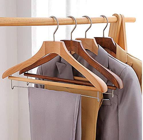 4 stks Willekeurige Kleur 43,5 cm hoogwaardige massief hout pak Hangers Houten Blazer Hanger Heavy Duty Business Suits Broek Wasserij Droogrek