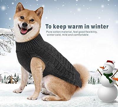 Idepet Pet Cat Dog Sweater,Warm Dog Coat Jumpers Hoodie Cat Clothes,Fleece Pet Coat for Puppy Small Medium Large Dog (M, Grey)