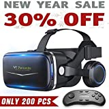 Pansonite Vr Headset with Remote Controller, 3d Glasses Virtual Reality Headset for VR Games & 3D Movies
