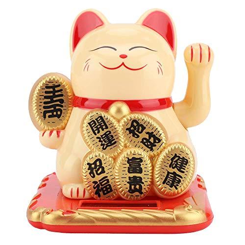 FTVOGUE zonne-energie ontspannende schommel geluk tewindend geluk uitnodigende kat Home Stores Auto Feng Shui Decor