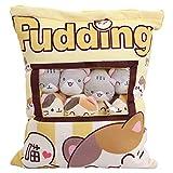 Nettes Imbiss-Taschen-Kissen 8 Stück Soft Cat Totoro Tierpuppe Spielzeug Kissen Plüsch Baumwolle...