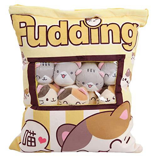 Nettes Snack-Kissen-Plüschtier-Spielzeug-Pudding-dekorative entfernbare Kitty-Katzen-Puppen-kreative Spielzeug-Geschenke für Kinder