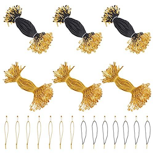 NBEADS Cirka 1 000 st hängetiketter, plagg pris hänglapp fästelement polyestersträngar klädlapp sladd med säkerhetsnål och barlås för detaljhandelsbutik kläder prislapp tillbehör