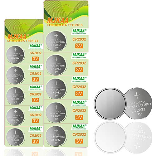 10 Pack 2032 Battery CR2032 3V Lithium Coin Cell Battery