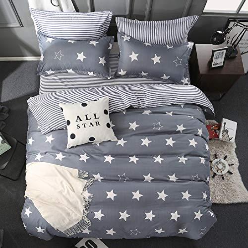 GETIYA 【Neueste】 2 Teilig Bettwäsche 135x200cm Sternenstaub Grau Anthrazit Bettwäsche für Kinder Sterne Microfaser Bettbezug mit Reißverschluss Kinder Grundlegende Sammlung