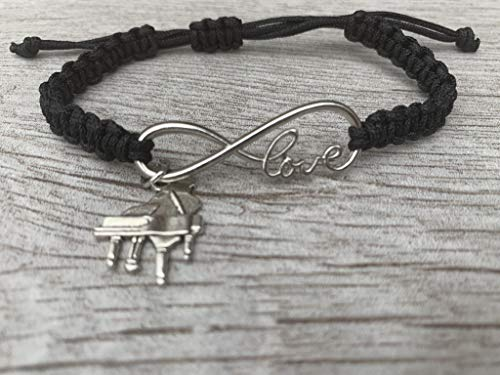 Infinity Collection Music Bracelet - Music Jewelry - Music Gift - Music Note- Music Lover Jewelry Gift (Piano)