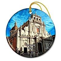 イタリアアチレアーレ大聖堂ディサンセバスティアーノクリスマスオーナメントセラミックシート旅行お土産ギフト