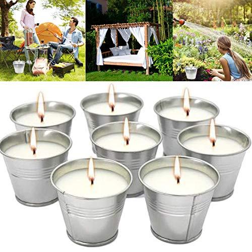 Anti Mücken Citronella Kerze Set 8, Anti Mücken Kerze Natürliches Sojawachs, funktionales Dekor und Sommergeschenk - Perfekt für Camping, Grillen, Picknicks, Garten, Schlafzimmer, Indoor Outdoor