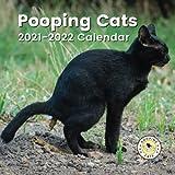 Pooping Cats Calendar 2021-2022: 18 Months - Funny Animal Lover Gag Joke Gift for Women, Men, Teens   Great for Birthday, White Elephant Party, Secret ... Stocking Filler or Stuffer, Christmas