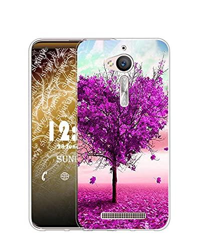 Sunrive Kompatibel mit ASUS Zenfone Go ZB500KL Hülle Silikon, Transparent Handyhülle Schutzhülle Etui Hülle (Q Baum 3)+Gratis Universal Eingabestift MEHRWEG