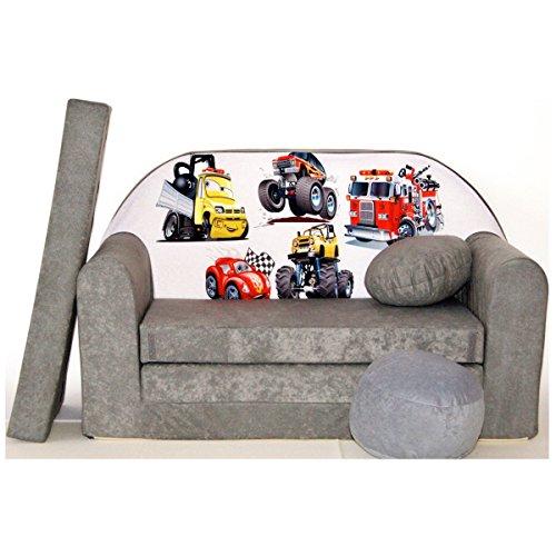 Welox A14 Fauteuil Canapé-lit Mini Basse 3 in 1 Ensemble pour bébé + Enfant Fauteuil et coussin d'assise + matelas
