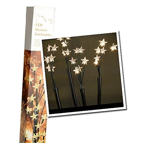 SSITG LED Leuchtstäbe Balkon Garten Dekoration Beleuchtung Gartenstäbe Weihnachten