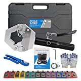 Hydraulic Hose Crimper Hydra-Krimp 71500,Manual AC Hose Crimper Kit Air Conditioning Repaire Handheld,Hydraulic Hose Crimping Tool with 7 Die Set, for Barbed and Beaded Hose Fittings