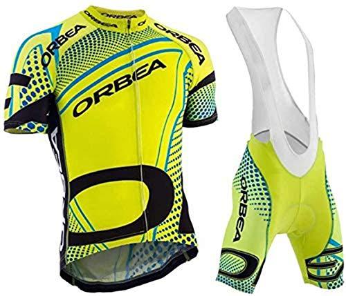 Logas Herren Fahrradbekleidung Pro Jersey + Radhose mit 3D-Gel gepolstert, Herren, 13, XXL