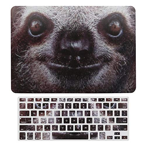 Macbook Air 13 Inch Case(A1369 & A1466, Older Version 2010 2017 Release), Plastic Hard Protective Laptop Case Shell With Keyboard Cover, Funny Sloth