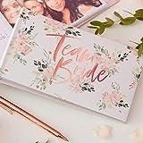 Revive la despedida de soltera con este impresionante álbum de fotos floral. El álbum tiene capacidad para 50 fotos de 10 x 15 cm.