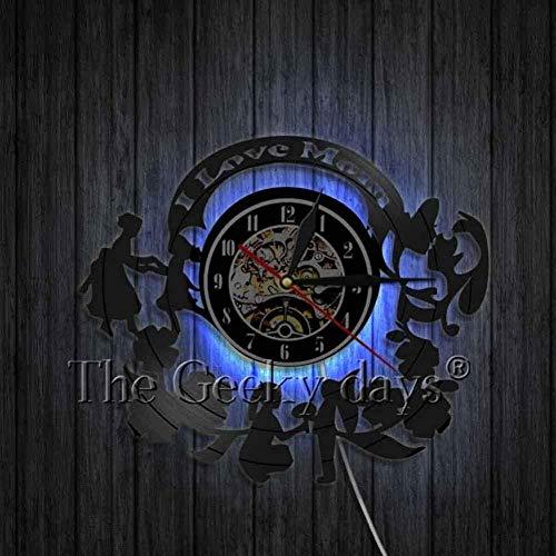 TIANZly Happy Mother s Day Reloj de Pared de Disco de Vinilo silencioso Arte Creativo de la Pared Decoración de la habitación Reloj LED Hecho a Mano Regalo para el día de la Madre