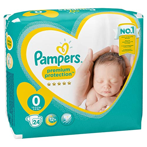 Pampers New Baby, 24 Pannolini, Taglia 0 (1-2,5 kg)