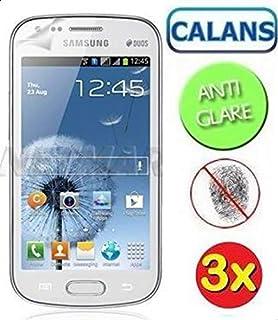 شاشة حماية شفافة LCD ضد التوهج من كالانس لهواتف سامسونج جالاكسي اس ديوس S7562 - (ثلاث قطع)