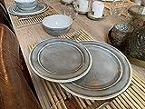 Camping Geschirrset für 4 Personen Grau aus Melamin Picknick Geschirr Campinggeschirr Tafelgeschirr - 3