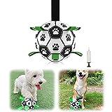Hundespielzeug Fußball, Hundespielzeug Ball,Fußballball mit Greiflaschen, Interaktives Hundeball Hund Wasserspielzeug Fußball Hund Zerrspielzeug Hund