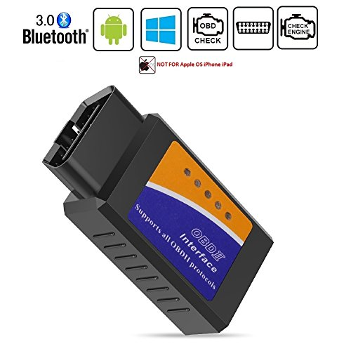 Friencity Bluetooth Car OBD ii 2 OBD2 Scanner Adapter, Vehicle Engine Code Reader for Car Diagnostic Scan Tool Check Engine Light, Compatible with Android & Windows Devices, NOT for iOS