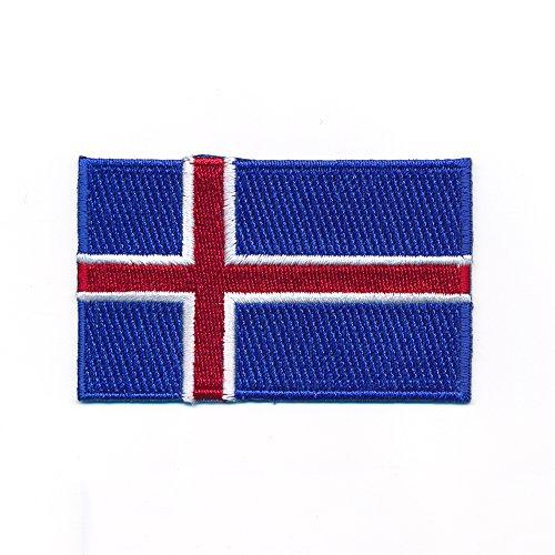 60 x 35 mm Island Iceland Reykjavík Europa Flagge Flag Aufnäher Aufbügler 0965 B