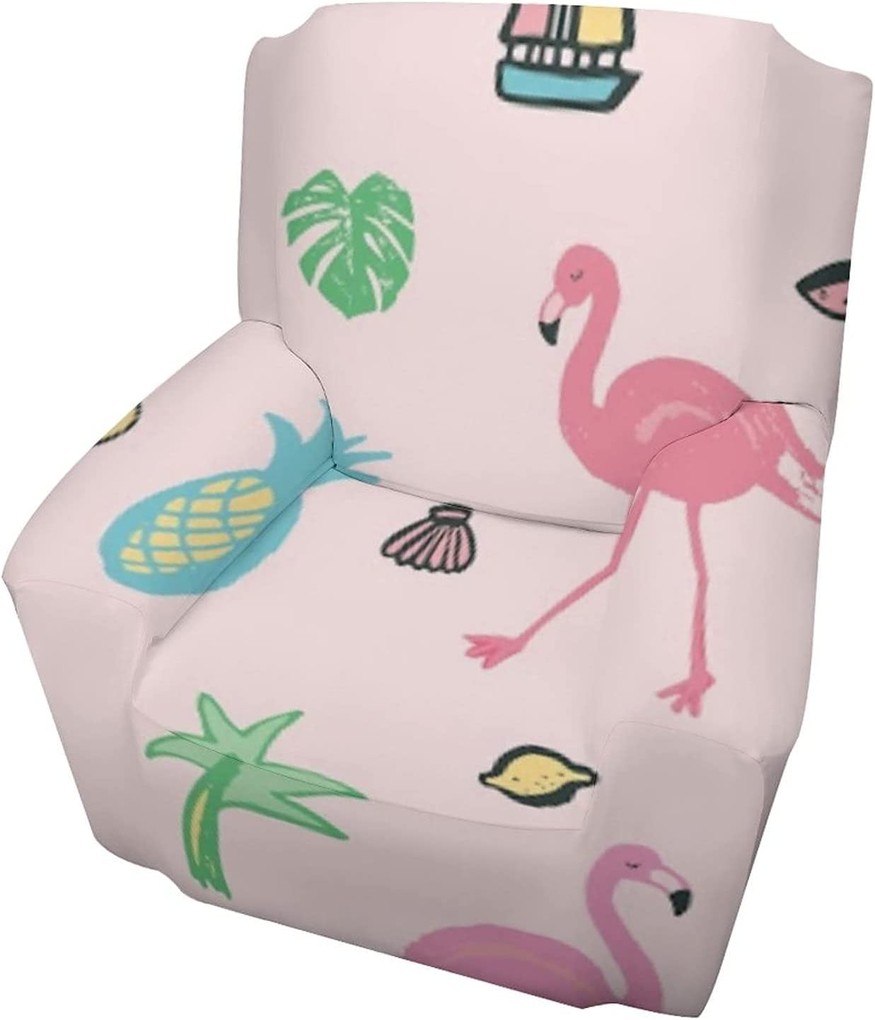 Uyomarer Single Person Sofa Set Directly managed store Flamingo Pink Pineapple Couch Co 5% OFF