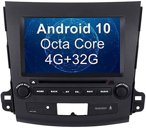 AEBDF Navegación GPS de Android para Mitsubishi Outlander, Pantalla táctil estéreo de 10,2 Pulgadas, Player Multimedia Sat Multimedia SWC WiFi Control de teléfono