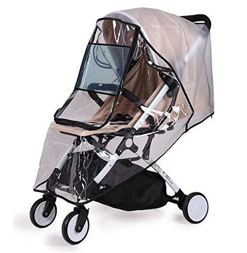 Bemece Universal Rain Cover for Pushchair Stroller Buggy Pram, Baby Travel Weather Shield - L