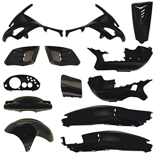 one by Camamoto cod. 77366000 kit set plastiche carene complete colore nero lucido compatibile con gilera runner 50 125 180 200cc (13 pz.)anno 1996-1997-1998-1999-2000-2001-2002-2003-2004