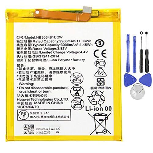 Batería compatible con Huawei P9 - P9 Lite - P10 Lite - P8 Lite 2017 de alta capacidad 3000 mAh con kit de desmontaje incluido.