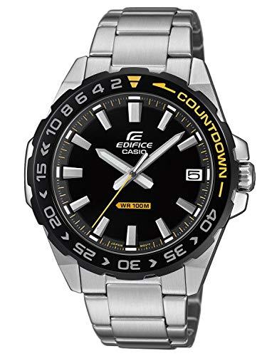 CASIO Herren Analog Quarz Uhr mit Edelstahl Armband EFV-120DB-1AVUEF