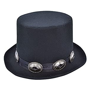 14 Black Rocker Style Top Hat 56b74d06efe