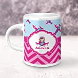 Airplane Theme - for Girls Espresso Cup - Single (Personalized)