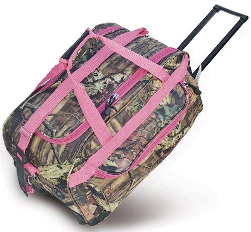 Explorer Rolling Duffel, Mossy Oak/Pink, 22-Inch