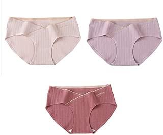 3 Pack Bragas Maternidad Algodon Ropa Interior Premam/á Calzoncillo Resbal/ón Ajustable Cintura Alta C/ómodo Imprimir Braguita Embarazada sin Costuras