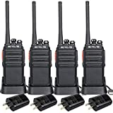 Retevis H-777S Two-Way Radios Rechargeable Long Range Super Clear Loud Audio Scan VOX Hand Free Walkie Talkies Cruise Ship Hiking 2 Way Radios(4 Pack)