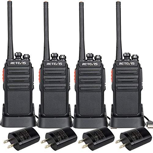Retevis H-777S Two-Way Radios Rechargeable,Walkie Talkies Long Range,2 Way Radios for Adults,Clear Loud Audio VOX Hand Free Durable,Worker Office Cruise Ship Hiking(4 Pack)