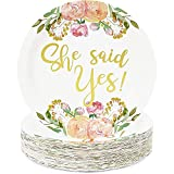 Bridal Shower Decorations, 9 Inch Paper Plates (9 In, 48-Pack)