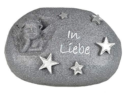 Gedenkstein mit Engel, Anthrazit