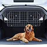 Car Dog Guard up to 61' Adjustable Boot Guard Metal Wire Headrest Dog Guard, Car Dog Gate Fence Grill Boot...