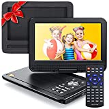 """APEMAN 2021 Upgrade 12.5"""" Portable DVD Player with 10.5"""" HD Swivel Screen, 6 Hour Rechargeable Battery for Car/Kids, Car Headrest Mount Case, Support USB/SD Card/Sync TV and Multiple Disc Formats"""