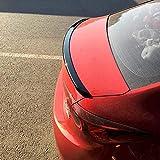 JNTML Alerón trasero ABS para Mazda 3 Axela 2014 2015 2016 2017 2018 2019, accesorios de modificación de cola trasera de la camioneta, alerón trasero del maletero, duradero, brillante
