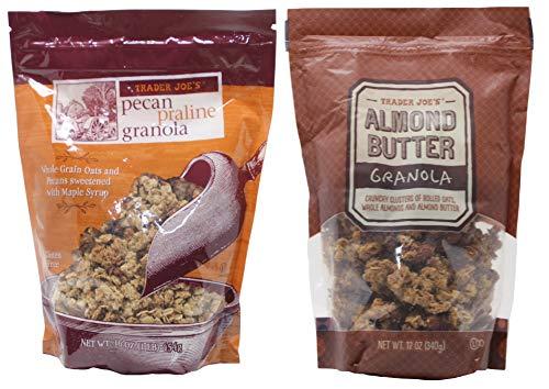 Trader Joes Pecan Praline, Almond Butter Granola Bundle. 1 Bag of Each Flavor.