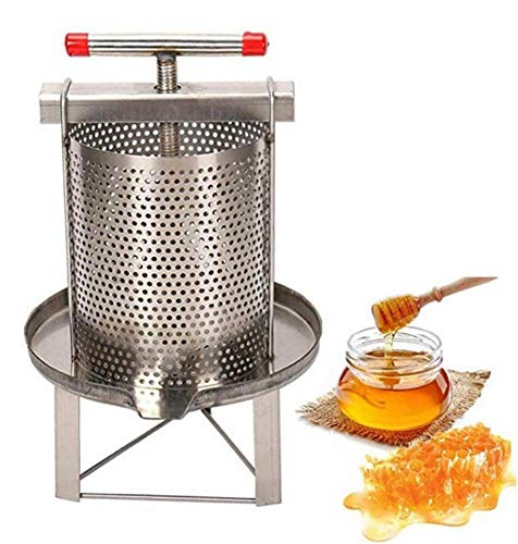 Honigschleuder Edelstahl Honig Schleuder Honigpresse Extraktor Bienenwachs Presser Bienen Schleuder Für Honig, Obst, Öldruckentwässerung, Medikamentenrückstände