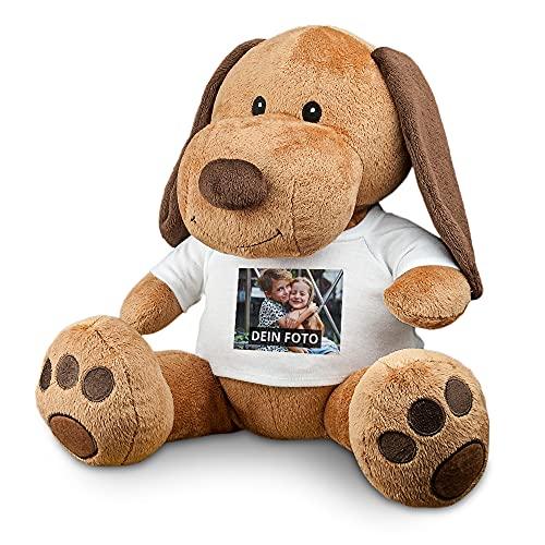 PhotoFancy® - Kuscheltier mit Foto Bedrucken – Stofftier Hund mit eigenem Motiv selbst gestalten