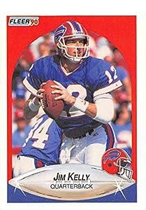 1990 Fleer Football #113 Jim Kelly Buffalo Bills Official NFL Trading Card From Fleer